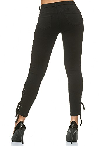 Lace Pantalon Femme ArizonaShopping Noir Up Jeans Lacis Stretch Jeans D2231 1PqFI