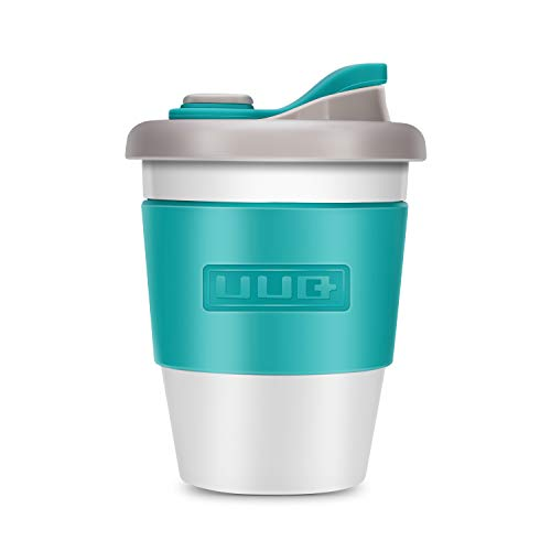 Reusable Coffee Cup, UUQ 12 oz Coffee Mugs with Organic Eco Friendly Natural Biodegradable PLA Material BPA Free, Coffee To Go Mugs for Travel and Work ()