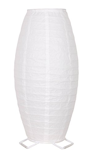 Catalina Lighting 22069-001 Casual Zen Stick Table Lamp with Rounded Rice Paper Shade, Bulb Included, 17.75