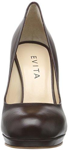 Evita Shoes Cristina - Tacones Mujer Braun (dunkelbraun 22)