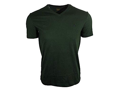(Polo Ralph Lauren Men's Classic Fit V-Neck T-Shirt-NW Pine-XL)