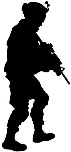 Military Soldier Infantry War Decal Window Laptop Sticker (WHITE COLOR DECAL) - Die Cut Decal Bumper Sticker For Windows, Cars, Trucks, Laptops, Etc.