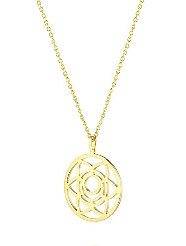 Daisy Gold Plated Sacral Chakra Long Necklace
