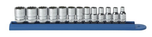 (GEARWRENCH 80306 13 Piece 1/4-Inch Drive 12 Point Standard Metric Socket Set)