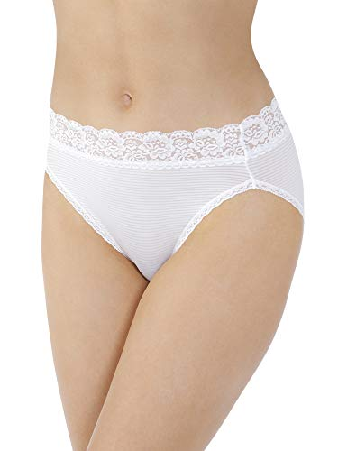 - Vanity Fair Women's Flattering Lace Hi Cut Panty 13280, Star White Novelty, Large/7