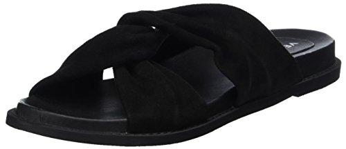 Vero Moda Vmcelia Leather Sandal, Mulas Para Mujer Negro (Black)