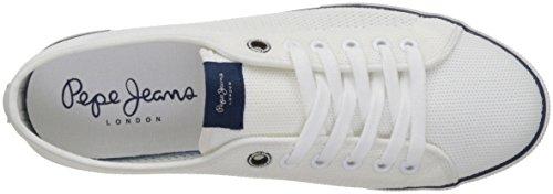 Pepe Jeans London Herren Aberman Knit Sneakers Weiß (White)