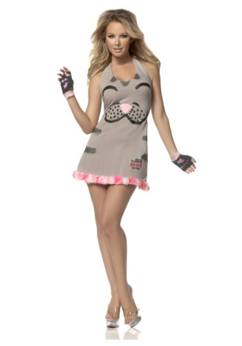 Mystery House Women's Soft Kitty, Grey/Black/Pink, (Soft Kitty Costume)