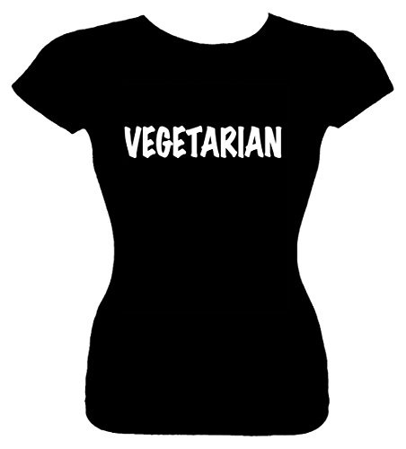 Junior's M T-Shirt (VEGETARIAN) Fitted Shirt (Vegetarian Merchandise compare prices)