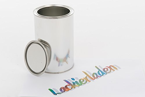 Leere Blechdose inkl. Deckel 1,0 L