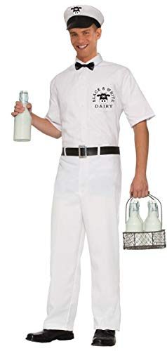 50's Milkman Adult Costume X-Large White ()