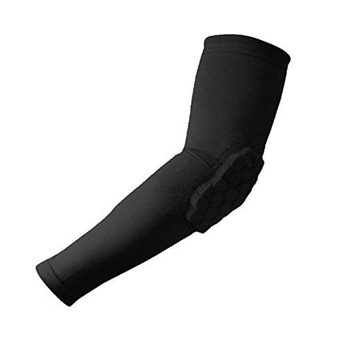 Ranvi Combat Basketball Pad Protector Gear Shooting Hand Arm Elbow Sleeve, 1 Pair, Black.