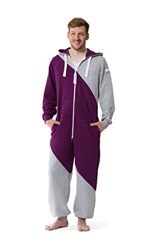 JUMPSTER Jumpsuit SECOND GENERATION Damen & Herren Overall, Original langer unisex Onesie mit Kapuze MADE IN EU (slim / regular) Mashup Purple-gray