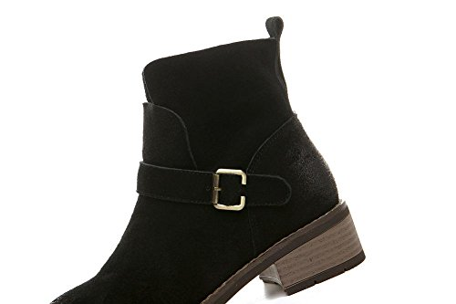 wdjjjnnnv Women's Daily Winter Suede Boots Girls Ankle Boots Shoes 39 C46MQpVjFb