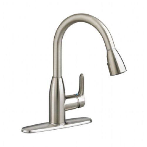 Colony Kitchen Sink Faucet - American Standard 4175300F15.075 Colony Soft PULL-DOWN Kitchen Faucet with 1.5 gpm Aerator, Stainless Steel