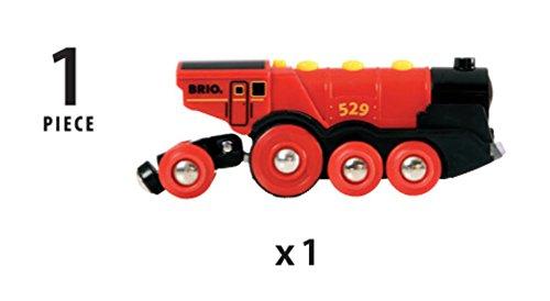 BRIO Eisenbahn Elektrische Lok, Brio World Eisenbahn Zubehör, Holzeisenbahn, Rote Lola 4