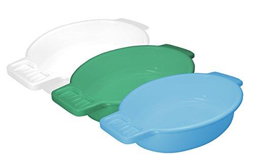 Pflegehome24® Waschschale aus Kunststoff, blau mit Seifenablage