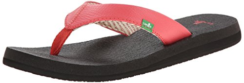 Sanuk Women's Yoga Mat Flip Flop, Watermelon, 8 M US