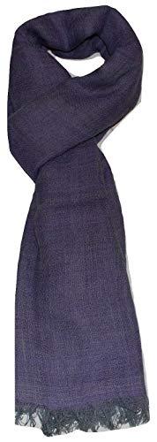 (100% Merino Wool Scarf,Two Tone Diamond Weave,Soft,Very Warm,Large (30