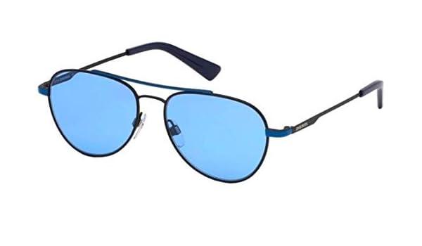 Gafas de Sol Diesel DL 0288 BLACK BLUE/BLUE hombre: Amazon ...