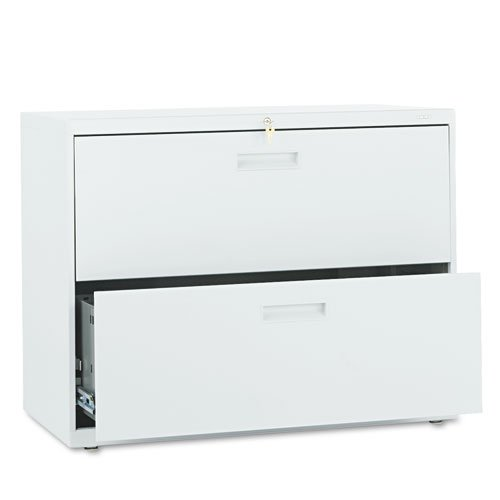 - HON 582LQ 500 Series 36 by 28-3/8 by 19-1/4-Inch 2-Drawer Lateral File, Light Gray