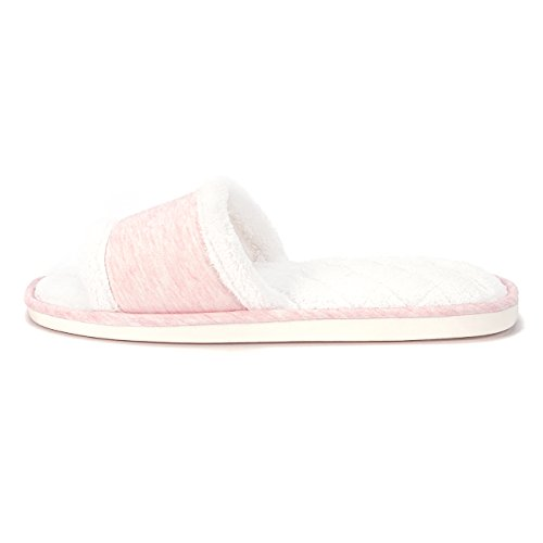 DRSLPAR House Open Slippers Comfort Slippers Foam Slide Bedroom Fuzzy Memory Toe Pink Womens rrxZqT