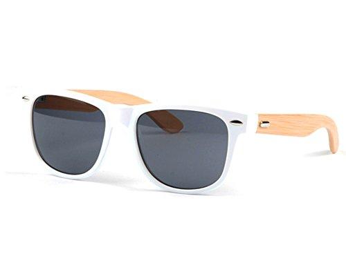 soleil adulte lunettes soleil rétro bois bois bambou lunettes Couleur UV400 Fletion lunettes de AC soleil homme femme lentille 3 lunettes 8nwvEx