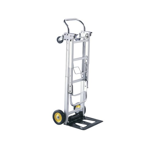 - Safco Products Hide-Away Convertible Hand Truck 4050, Dual Function, 400 lbs. Total Capacity, Aluminum Frame