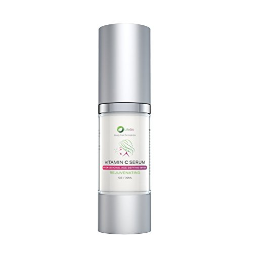 LifeGlo Premium Vitamin C Serum for Face and Skin — Best Natural Anti Aging, Rejuvenating, and Moisturizing Formula That Reduces Wrinkles 1 fl oz — Made in The USA