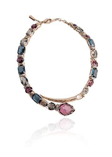 (Roberto Cavalli Womens Swarovski Embedded Crystal Stone Serpent Choker~RTL$2275)