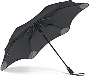 """BLUNT Metro Travel Umbrella with 37"""" Canopy and Wind Resistant Radial Tensioning System, Black (Black) - 82744"""