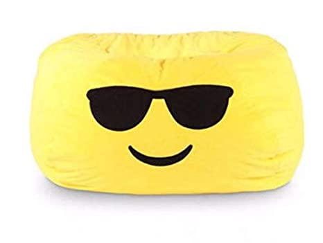 Remarkable Amazon Com Gomoji 9630401 Emoji Cool Bean Bag Chair 28 X Ocoug Best Dining Table And Chair Ideas Images Ocougorg
