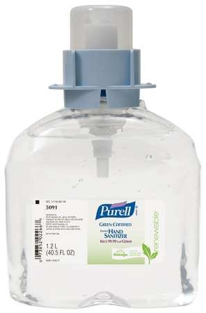 Hand Sanitizer, Size 1200mL, Gel, PK3 by Purell