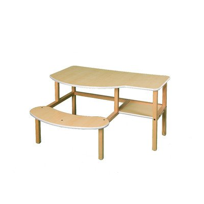 Wild Zoo Furniture Childs Wooden Computer Desk for 1 to 2 Kids, Ages 5 to 10, Maple/White by Wild Zoo Furniture