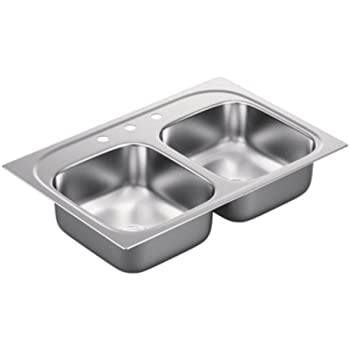 series gauge double bowl sink stainless steel undermount kitchen offset vigo