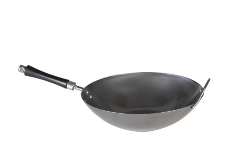 Nordic Ware 14 Inch Pre-Seasoned Carbon Steel Wok