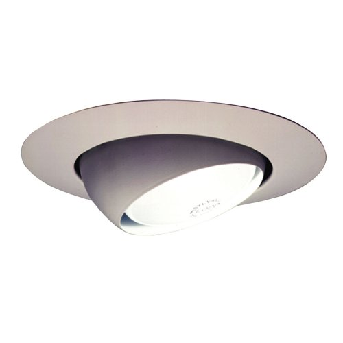 Halo 78P 6-Inch Eyeball Light Trim, (White Eyeball Recessed Light Trim)