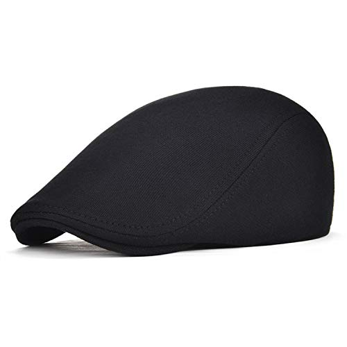 LONIY Cotton Men Women Soft Beret Flat Cap Driver Retro Vintage Soft Boina Casual Baker Newsboy ()
