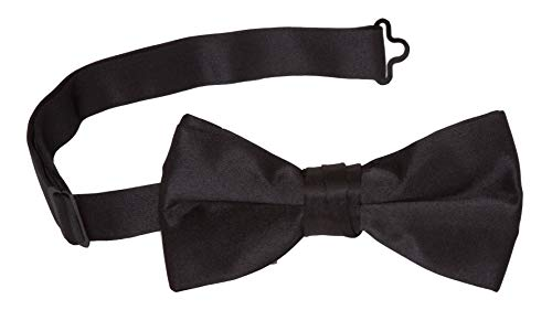 Tuxedo Solid Color Bow Tie, Black, One Size