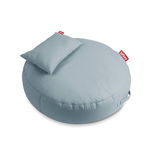Fatboy Pupillow Indoor Outdoor Bean Bag Pouf Ottoman and Seat, Mineral Blue