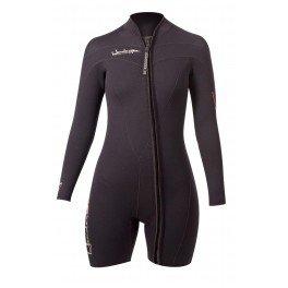 e2fb3bb444 Henderson Woman Thermoprene Long Sleeve Shorty   Jacket (Front Zip) 3mm Scuba  Wetsuit-10