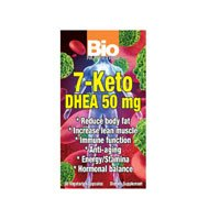 Bio nutrition 7-Keto 50 mg de DHEA - 50 Veg Capsules, Pack de 3