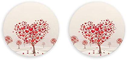 Árboles en forma de corazón Abrebotellas redondos / Imanes de nevera Sacacorchos de acero inoxidable Etiqueta magnética 2 piezas