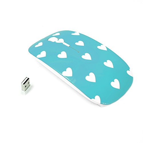 TopCase Heart Shaped Turquoise Wireless Designed