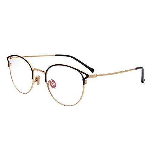Jardin d'amour Designer Cat Eye Oversized Round Optical Frames Womens Mens Metal Frame Fashion Eyeglasses JA943 - Express Optical Sunglass