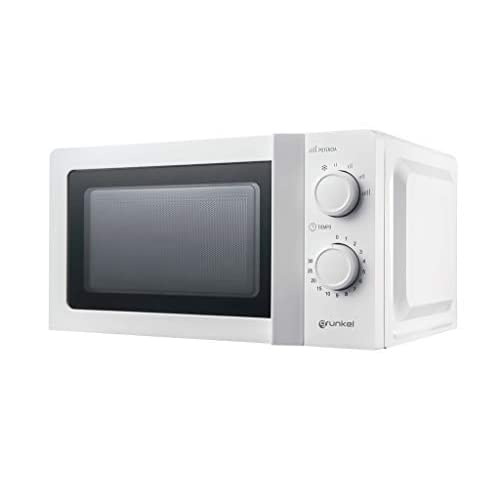 Grunkel - MW-20IG - Microondas blanco de 20 litros de capacidad y 6 niveles de potencia. Función descongelación y temporizador hasta 30 minutos - 700W - Blanco a buen precio