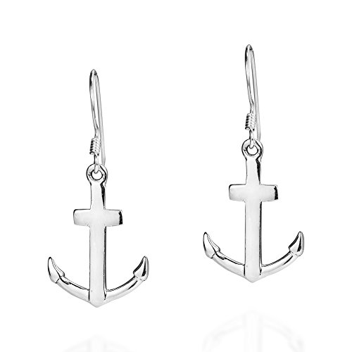 Anchor of Hope .925 Sterling Silver Dangle Earrings