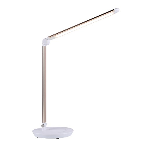 CO-Z LED Desk Lamp with USB Charging Port, Eye-Caring Rotatable Table Task Reading Lamp, Dimmable Touch Control Adjustable Home Office Laptop Computer Lamp with 7 Brightness Levels for Study Working by CO-Z