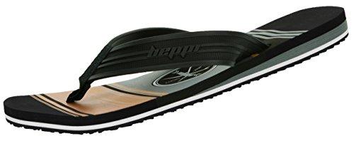 Badelatschen Schwarz Strandschuhe Herren Zehentrenner 43 Antibakteriell Badeschuhe Beppi Bequem Leicht Größe Urlaubsschuhe Schuhe Männer 8a0qw