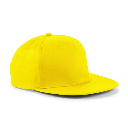Beechfield–Gorra de Rapper algodón amarillo